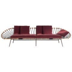 Discovery Red Oval Sofa