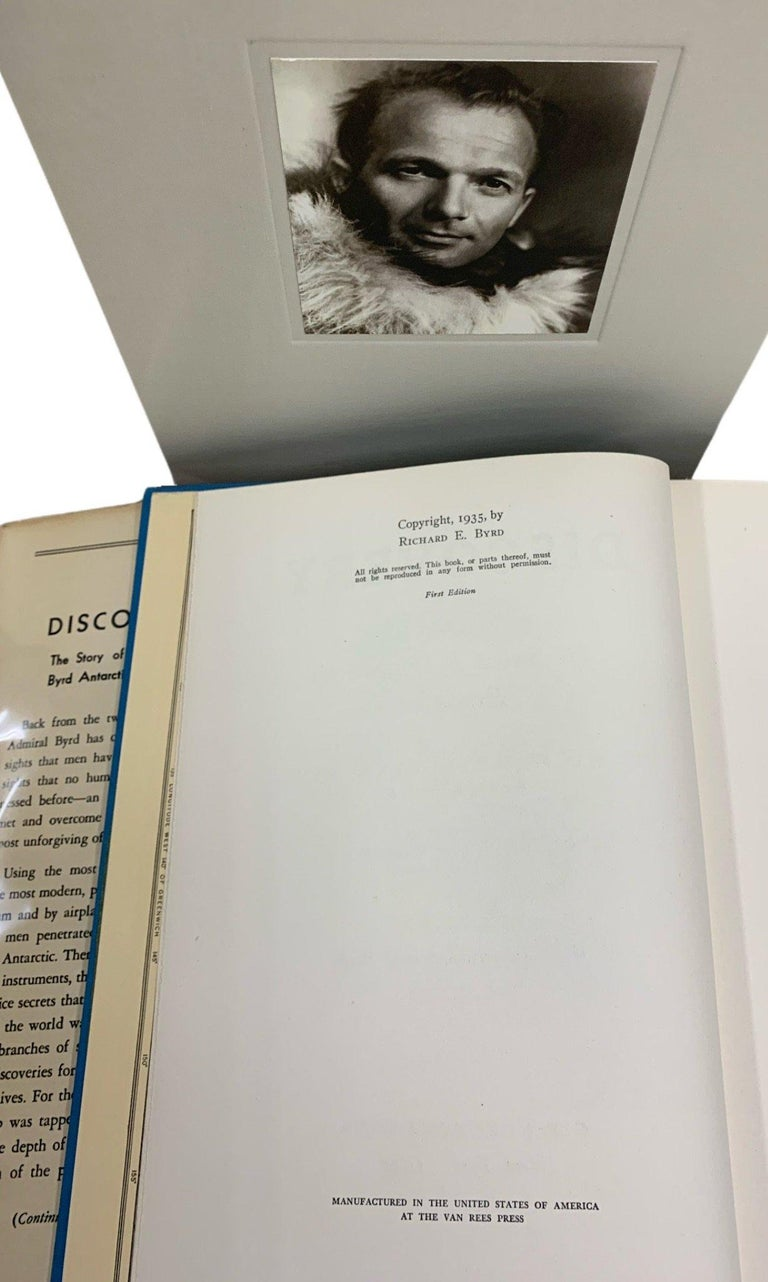 Discovery the Story of the Second Byrd Antarctic Expedition Signed 1st Edition In Good Condition For Sale In Colorado Springs, CO