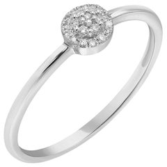 Discreet Elegant Every Day Classic Combination White Diamond White Gold Ring