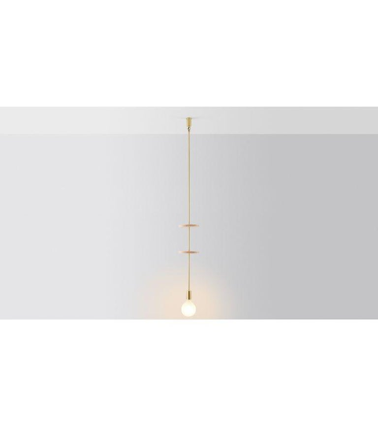 Blackened Discus 2 Pendant Light by Volker Haug For Sale