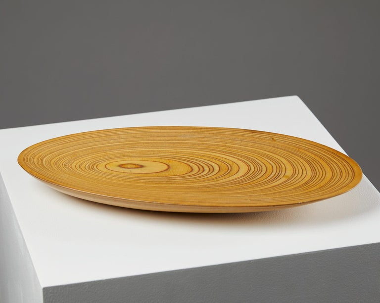 Veneer Dish Designed by Tapio Wirkkala, Finland, 1950s For Sale