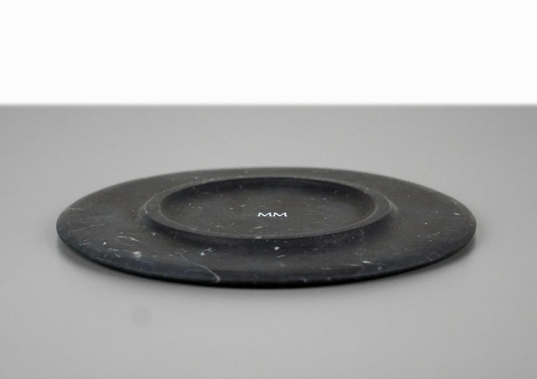 Dish in Black Marquinia Marble by Ivan Colominas, Italy In New Condition For Sale In Milan, IT