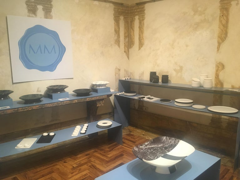 Dish in Black Marquinia Marble by Ivan Colominas, Italy, in Stock In New Condition For Sale In Milan, IT