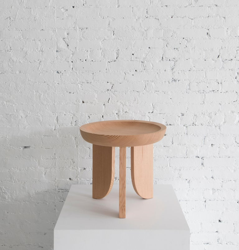 A limited edition run of our well known Dish Side Table made from twice reclaimed Northwest old growth fir to commemorate our ten year studio anniversary.  Built in the USA from solid fir. Side table also doubles as a stool. Only ten branded and