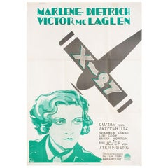 Dishonored R1930s Swedish B1 Film Poster