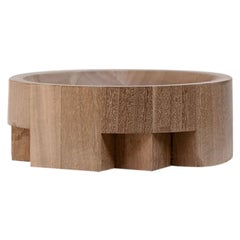 Disk Tray, African Walnut, Signed by Arno Declercq