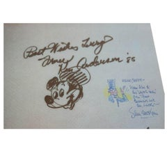 Disney Animators and Voice Actors Autographs and Sketches