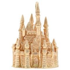 Disney Cinderella's Castle Charm Yellow Gold, 14k Theme Park Souvenir Pendant