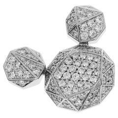 Disney Crystal Season 0.85 Carat Diamonds Platinum Mickey Pendant Top