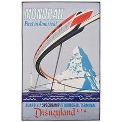 Disneyland Attraction Poster Monorail