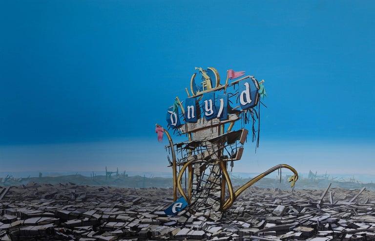 Modern 'Disneyland Destruction' by Jeff Gillete For Sale