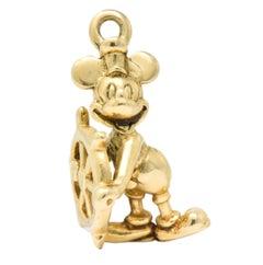 Disney's Mickey Mouse Contemporary 14 Karat Gold Charm