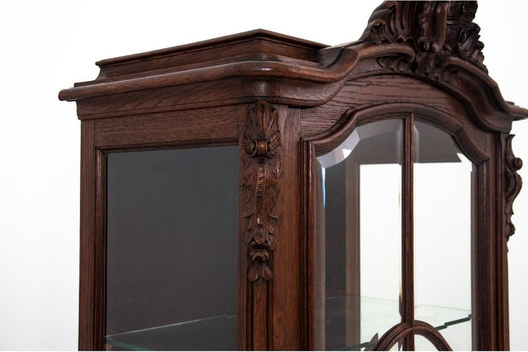 Display Cabinet, France, circa 1900, Antique In Good Condition For Sale In Chorzów, PL