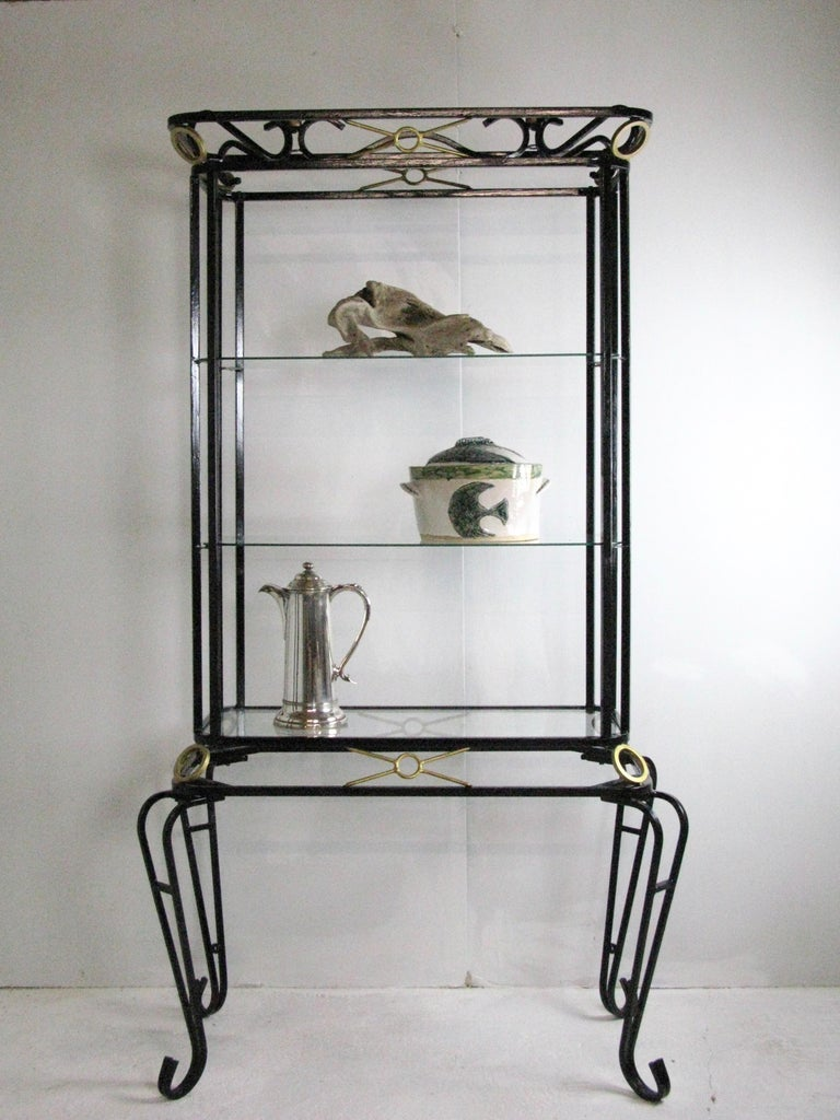 Lovely impressive decorative vintage display cabinet.
