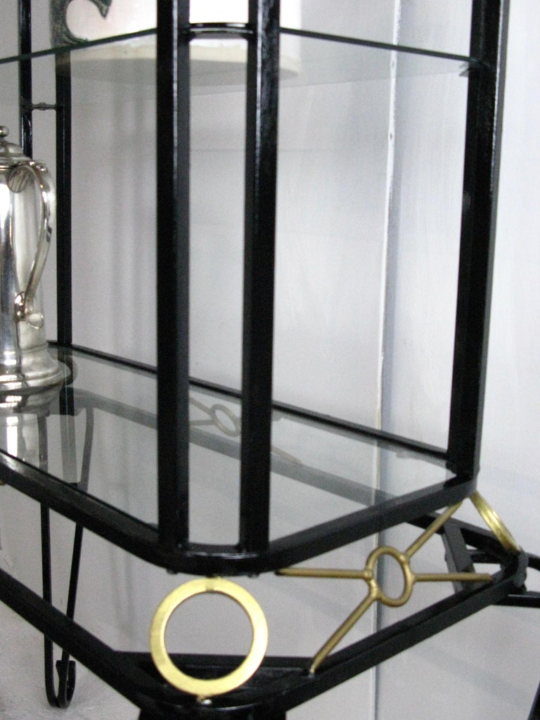 Galvanized Display Cabinet, Vintage Vitrine, French Display Cabinet, Bathroom, Kitchen For Sale