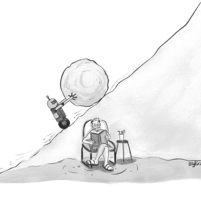 Robot Sisyphus