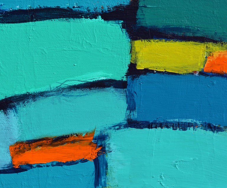 Contemporary 'Distant Drums' Original Abstract Painting by Lars Hegelund For Sale