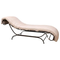 Distinctive Steel Chaise Longue