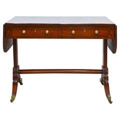 Distinguished English George III Mahogany Pedestal Sofa Table, Circa 1830