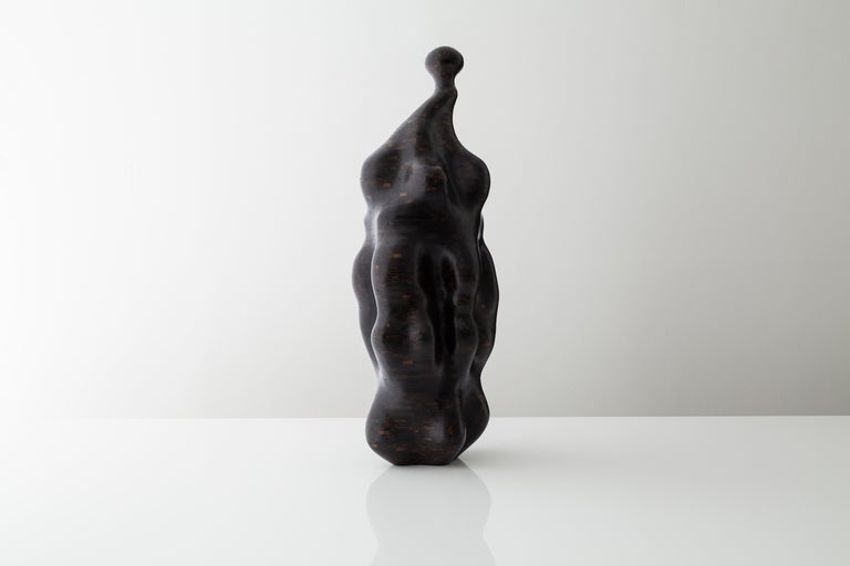 American Distortion, Stacked Blackened Oak Sculpture by Richard Haining, Available Now