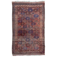 Distressed Antique Baluch Afghan Rug