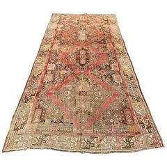 Distressed Antique Caucasian Karabagh Rug