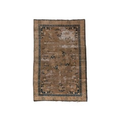 Distressed Antique Chinese Xiaoping Rug