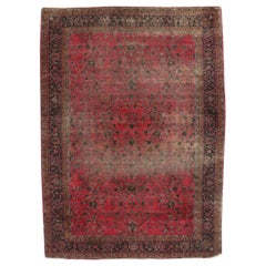Distressed Antique Indian Palace Rug with Victorian Style and Mughal Design