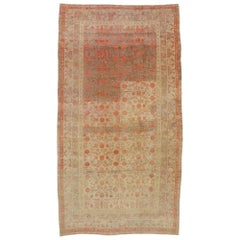 Distressed Antique Khotan Gallery Rug with Pomegranate Design