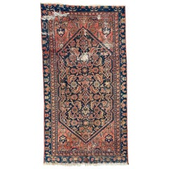 Distressed Antique Malayer Rug