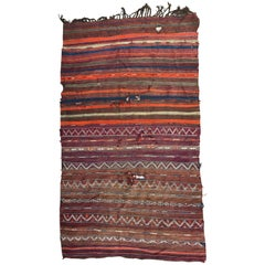 Distressed Antique Moroccan Kilim