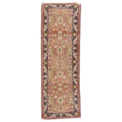 Distressed Antique Pakistani Runner with Rustic Arts & Crafts Style
