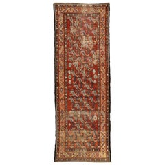 Distressed Antique Persian Azerbaijan Hallway Runner with Rustic Artisan Style