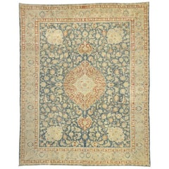 Distressed Antique Persian Heriz Design Rug with English Chintz Rustic Style