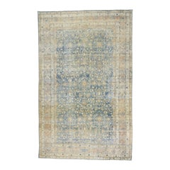 Distressed Antique Persian Kerman Palace Rug with British Colonial Style