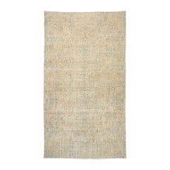 Distressed Antique Persian Kerman Palace Rug with Cotswold Country Cottage Style