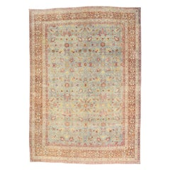 Distressed Antique Persian Kerman Rug with Southern Living and Colonial Style