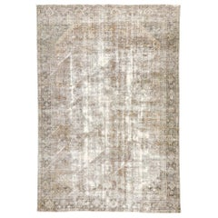 Distressed Antique Persian Mahal Rug with Modern Rustic Style