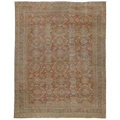 Distressed Antique Persian Mahal Rug with Rustic Spanish Mission Style