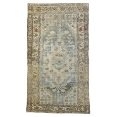 Distressed Antique Persian Malayer Design Rug with Colonial Cottage Style