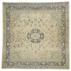 Distressed Antique Persian Malayer Design Rug with Neoclassical Gustavian Style