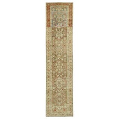 Distressed Antique Persian Malayer Design Runner with Rustic Arts & Crafts Style