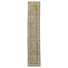Distressed Antique Persian Malayer Design Runner with Rustic Craftsman Style