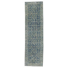Distressed Antique Persian Malayer Runner with Greek Mediterranean Style