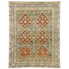 Distressed Antique Persian Shiraz Design Rug with Rustic Arts & Crafts Style