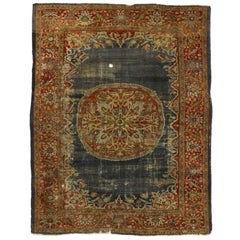 Distressed Antique Persian Sultanabad Rug with Rustic Artisan Industrial Style