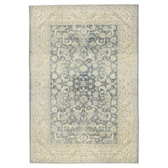 Distressed Antique Persian Sultanabad Rug with Rustic Gustavian Style