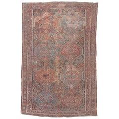 Distressed Antique Shiraz Rug