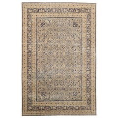 Distressed Antique Turkish Rug with British Colonial Style