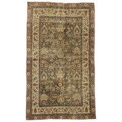 Distressed Antique Turkish Sivas Rug with Rustic Belgian Style